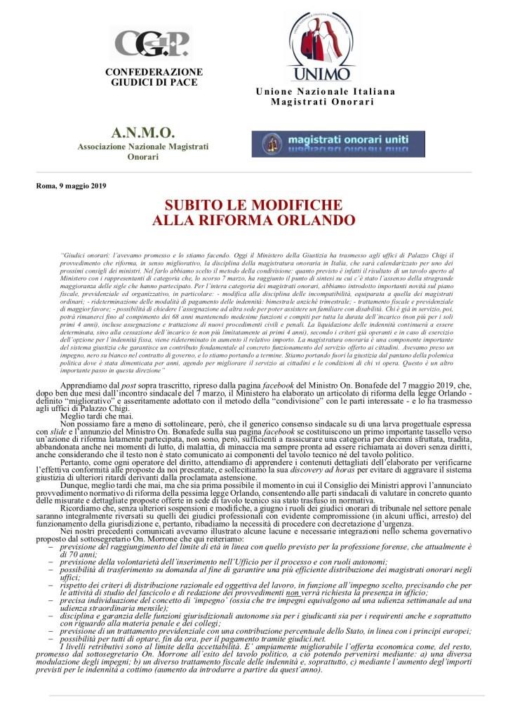 Comunicato-BONAFEDE-UNITARIO-09-05-19